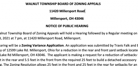 NOTICE OF PUBLIC HEARING – May 13